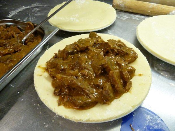 Steak Flling in pie